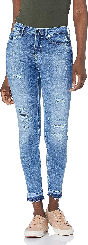 GUESS Women's Eco 1981 High Rise Skinny Fit Raw Hem Jean