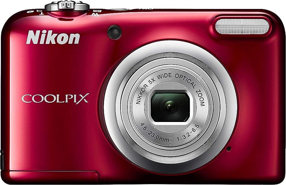 Nikon COOLPIX A10 16.1MP 1/2.3 CCD 4608 x 3456Pixeles Rojo - Cámara Digital (Fuegos Artificiales Auto Corriente alterna Batería Cámara compacta 1/2.3 46-23 mm)