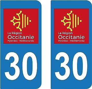 supstick 2Sticker Selbstklebend Nummernschild Dept 30Region Okzitanien