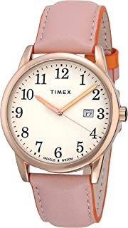 Men's Easy Reader Leather Strap 38mm Watch