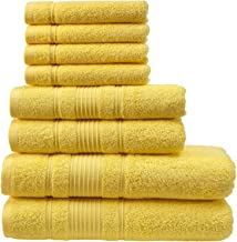 Qute Home Towel Set; 2 Bath Towels, 2 Hand Towels, and 4 Washcloths | Spa & Hotel Towels Quick Dry 100% Turkish Cotton Tow...
