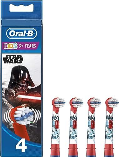 Oral-B Kids Brossettes De Rechange Star Wars x4, Enfants de 3 ans et plus, Recharge Originale Pour Brosse À Dents Éle...