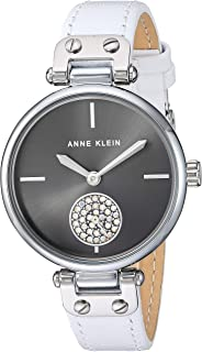 Women's Swarovski Crystal Accented Leather Strap Watch