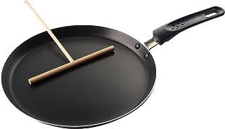 Fackelmann Crepe-panna med sträng Ø 25 cm, för wafer-fina crepes, pannkakpanna, med distributör, crepe maker för nästan al...