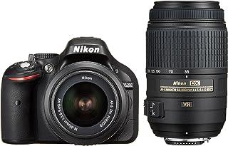 Nikon デジタル一眼レフカメラ D5200 ダブルズームキット AF-S DX NIKKOR 18-55mm f/3.5-5.6G VR/ AF-S DX NIKKOR 55-300mm f/4.5-5.6G ED VR ブラック D520...