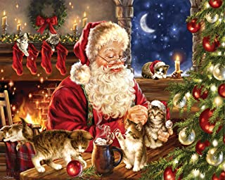 Springbok Puzzles - Christmas Kittens - 1000 Piece Jigsaw Puzzle - Large 30 Inches by 24 Inches Puzzle - Made in USA - Unique Cut Interlocking Pieces