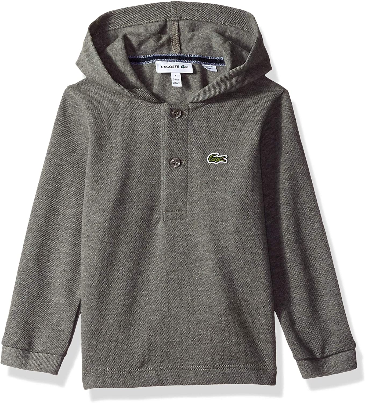 Lacoste Boy Long Sleeve Hooded Pique Polo