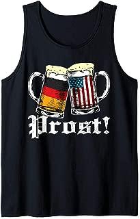 Prost Beer German American Flag Oktoberfest Mug For Men Tank Top