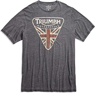 Lucky Brand Men's Big & Tall Triumph Motorcycle Badge Tee
