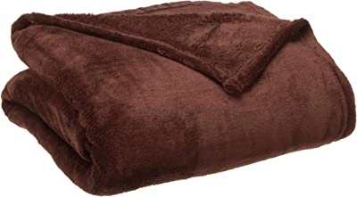 Northpoint Hotel Collection Therma Plush Blanket, King, Chocolate