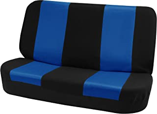 FH Group FH-FB102010 Classic Cloth Bench Seat Covers Blue/Black Color- Universal Car, Truck, SUV, or Van