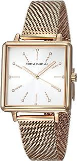 Armani Exchange Lola Square Quartz Silver Dial Ladies Watch AX5802