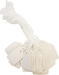 Amram Strung Blank Scalloped Marking Tags 1.75 Inch X 1.1 Inch 1000 Tags White