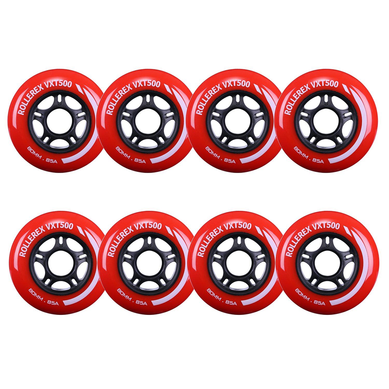 Rollerex VXT500 Inline Skate//Rollerblade Wheels 80mm 2-Pack