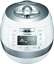 Cuckoo CRP-AHSS1009FN Electric Induction Heating Pressure Rice Cooker Stainless Steel Interior with Non-Stick Coating Fuzzy Logic and Intelligent Cooking, 10 Cup, White