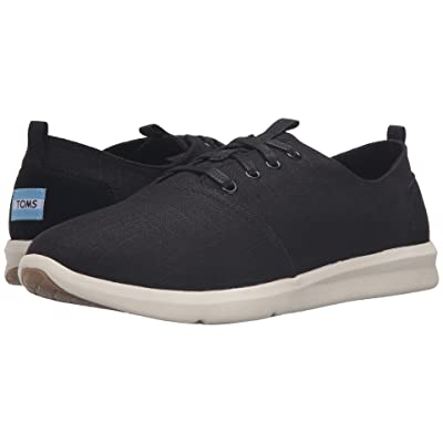TOMS Del Rey (Black Linen) Men
