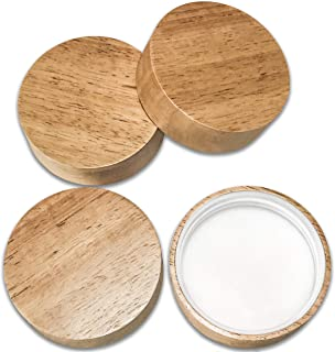 Wooden Mason Jar Lids - 4 Mason Jar Lids Regular Mouth (Rubberwood) - Custom Molded Screw Top Mason Jar Lid Set Compatible Storage Lids for Kerr and Ball Jar Lids by Kitchen Charisma