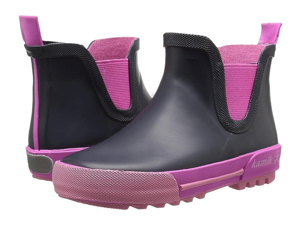 Kamik Kids Rainplaylo (Toddler) (Navy/Magenta) Girls Shoes