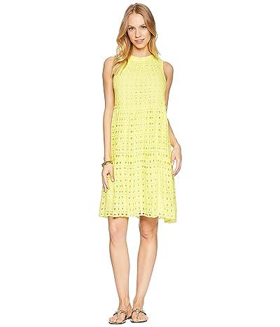 Lilly Pulitzer Indira Dress (Lillys Lemon Stripey Rayon Eyelet) Women