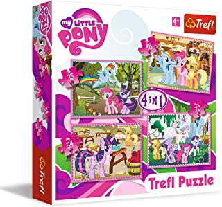 Trefl 34153 4 in 1 Ponies' Holiday Hasbro My Little Pony Puzzle - 207 Pieces