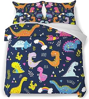 Jekeno Duvet Cover Set Modern Pattern Dinosaur Bedding...