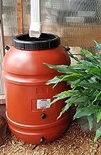 Aunt Molly's 50 Gallon Screw on Lid Terra Cotta Color Plastic Food Grade Rain Barrel