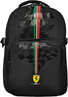 "FERRARI SILVER HORSE BLACK BACKPACK 17"" BP"