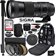 Sigma 150-600mm f/5-6.3 DG OS HSM Contemporary Lens for Canon EF Professional Bundle Deal - 745101- USA Warranty- Pro Series 72