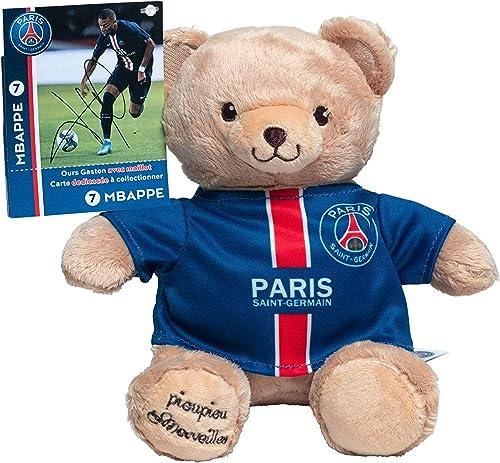 Peluche PSG Kylian MBAPPE – Ours PSG - Peluche Officielle Paris Saint Germain - Mascotte 20 cm