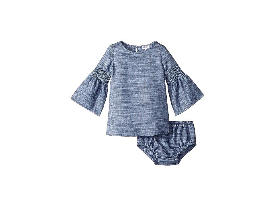 Splendid Littles Bell Sleeve Midi Dress Set (Infant) (Denim) Girl