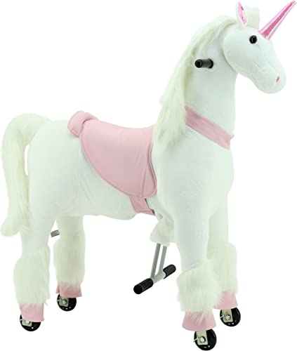 Sweety Toys 7264 running animal big UNICORN 4 a 9 anos-RIDING ANIMAL