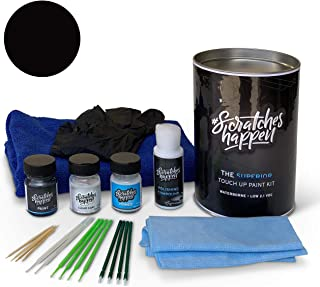 ScratchesHappen Exact-Match Touch Up Paint Kit Compatible with Ford/Lincoln Absolute Black (G1/M7343A) - Complete