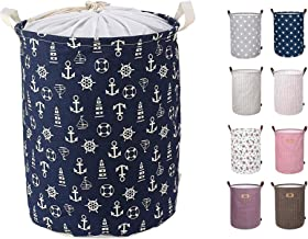 ABTRIX WITH AB 50L Laundry Hamper Extra Large & Tall Collapsible Laundry Basket with Waterproof Coating Dirty Clothes Storage Baskets with Handles Foldable Toy Laundry Bag, Multi Colour Pattern