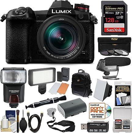 $1899 Get Panasonic Lumix DC-G9 4K Wi-Fi Digital Camera & 12-60mm f/2.8-4.0 Lens with 128GB Card + Battery + Backpack + Flash + LED Video Light + Microphone Kit