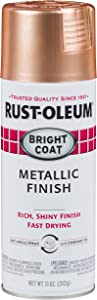 Rust-Oleum 314417 Stops Rust Bright Coat Metallic Spray Paint, 11 oz, Copper