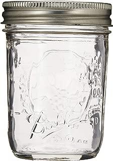 Ball 60000 Half Pint (8 oz.) Regular Mouth Mason Jars w/ Cap - Set of 12 AEP