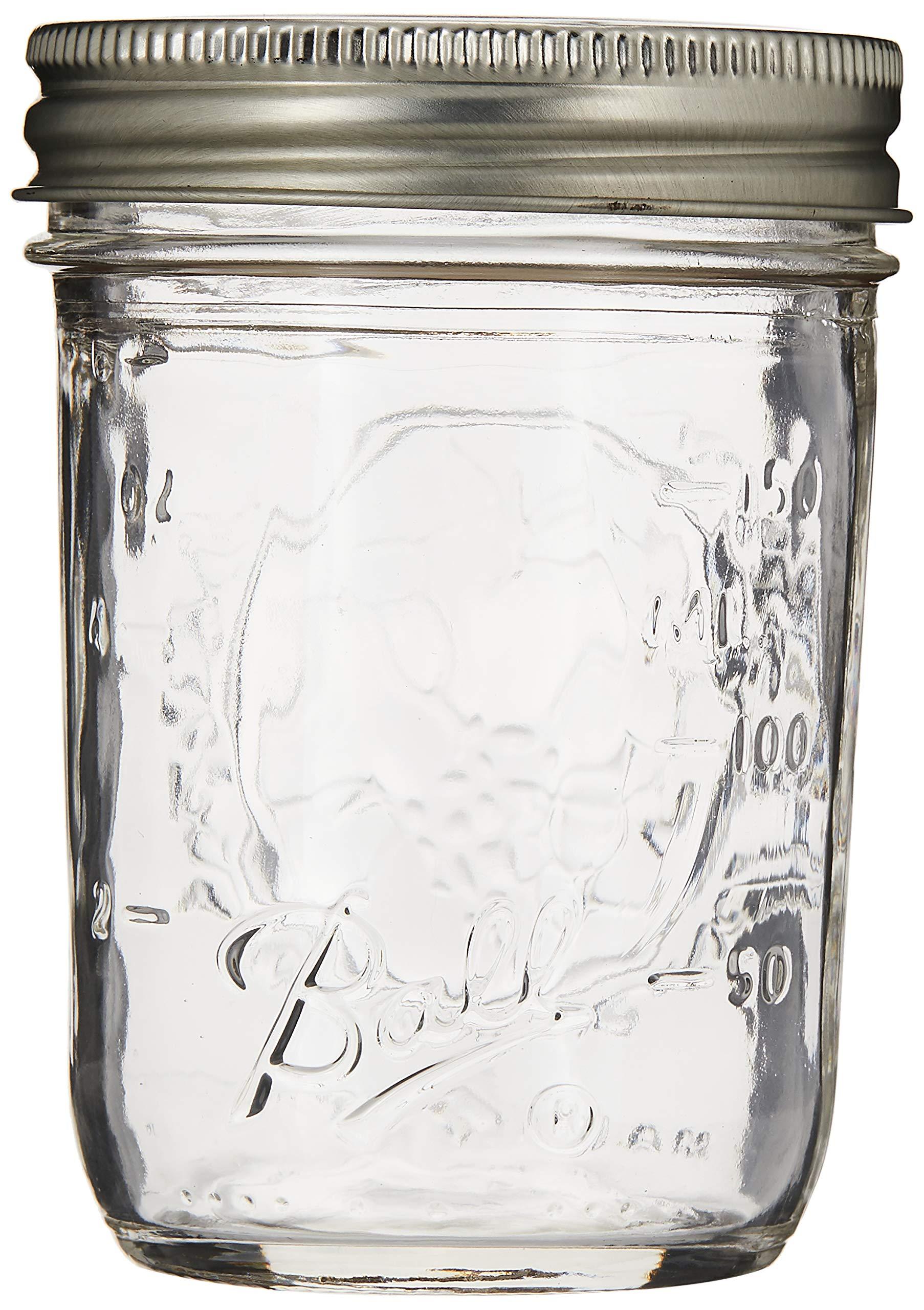 Ball Half Pint (8 oz.) Regular Mouth Mason Jars w/ Cap - Set of 12 AEP