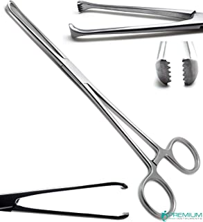"""Tuffier Artery Forceps 8"""" Teeth 5x6 Hemostat Surgical Stainless Steel Instrument"""
