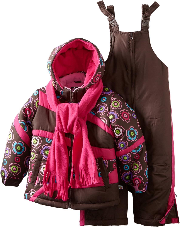 Rothschild Little Girls' Colorblock Print Snowsuit