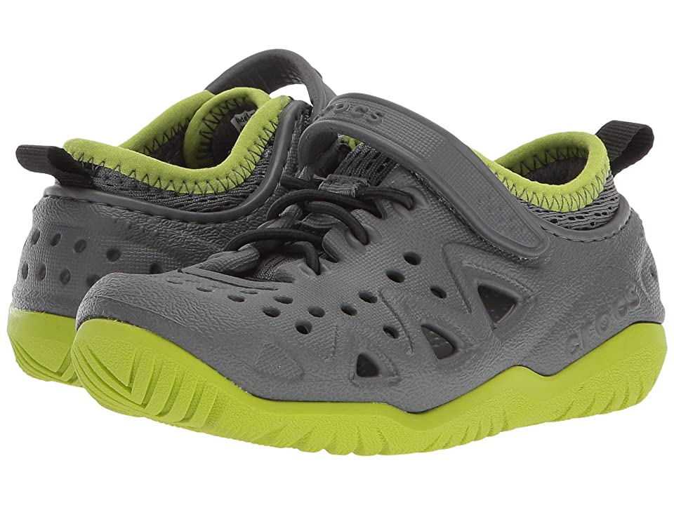 Crocs Kids Swiftwater Play Shoe (Toddler/Little Kid) (Slate Grey) Kid