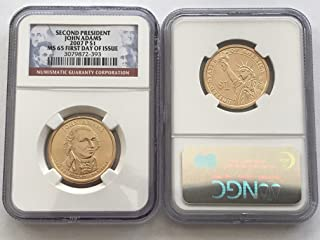 2007 D Presidential Dollar John Adams FIRST DAY OF ISSUE $1 MS-65 NGC