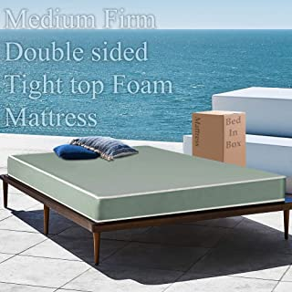 5-Inch Medium Firm Double Sided Tight top Foam Rolled Vinyl Mattress, Good for The Back