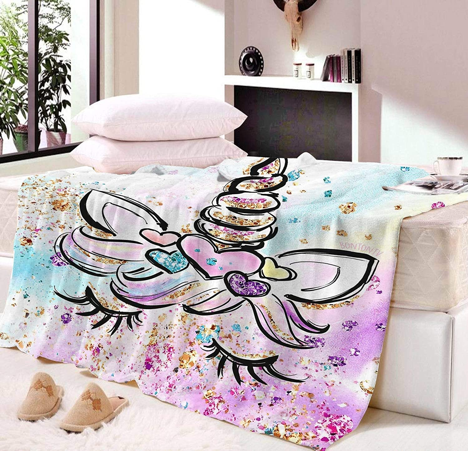 xingwang Unicorn Nap Blanket Super Attention NEW before selling brand for Autumn Modern Spring Soft