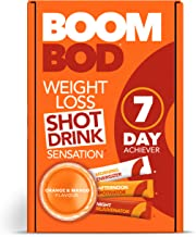 Boombod Weight Loss Shot Drink, Glucomannan, High Potency, Diet and Exercise Enhancement, Promote Fat Loss, Keto and Vegan Friendly, Sugar and Aspartame Free, Gluten-Free - Orange Mango Flavor