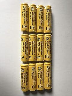 Ntertainment House Set of 12 Solar Light Ni-cd 600mah Rechargable Batteries for Solar Lights (AA 600mAh)