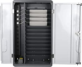 Pearington Fully Assembled Space Saving 12 Device Wall Mount Charging & Storage Cabinet for iPads, Chromebooks and Laptops, Up to 13