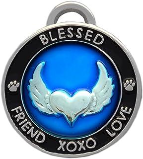 Luxepets Pet Collar Charm, Unconditional Love, Blue