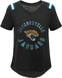 NFL NFL Jacksonville Jaguars Youth Girls Retro Block Vintage Short Sleeve Football Tee Black, Youth Medium(10-12)