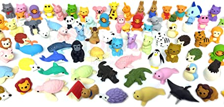 Pencil Eraser Animal Collection IWAKO Japanese Erasers (Pack of 20) Unicorn included