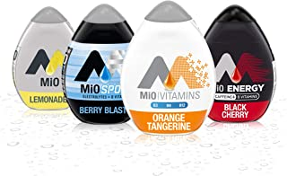 Mio Liquid Water Enhancer Variety Pack, 1 Orange Tangerine, 1 Energy Black Cherry, 1 Lemonade, 1 Sport Berry Blast, 4 CT